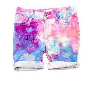 Watercolour Print Roll-Up Shorts
